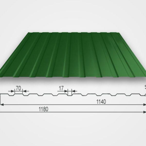 Профнастил Т-10 размер волны
