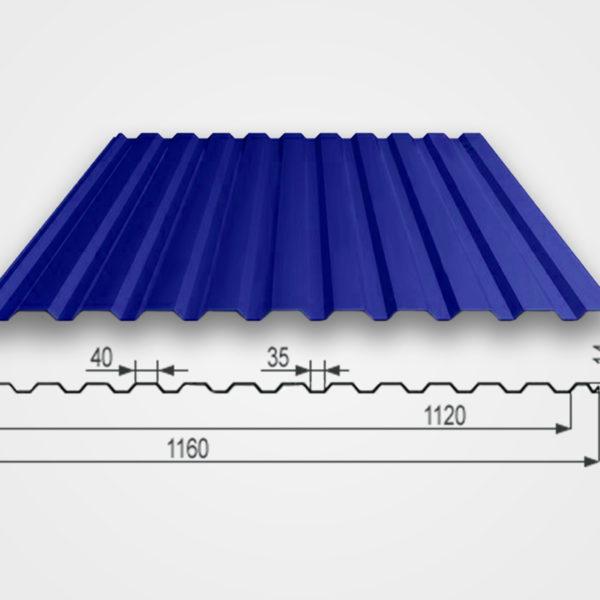Профнастил Т-14 размер волны