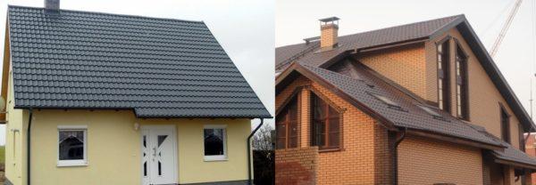 Крыши с матовой металлочерепицей