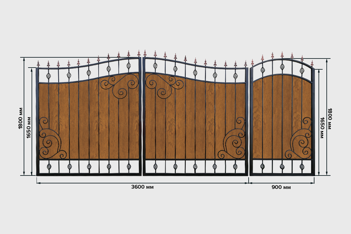 Ворота с ровным листом №6 Кардинал